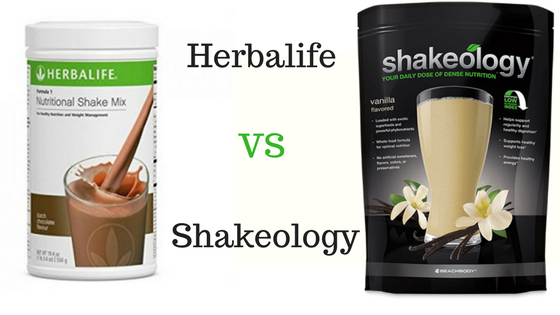 Herbalife vs Shakeology picture