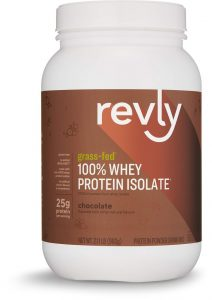 Revly grass fed whey protein isolate