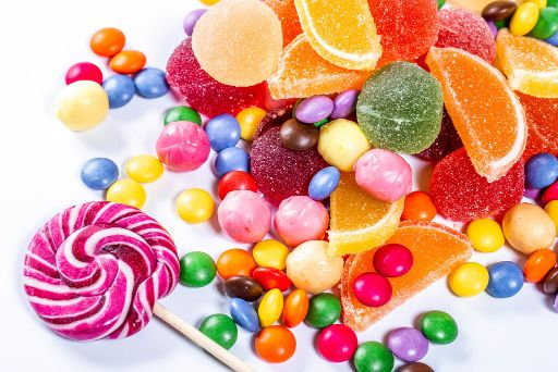 protein powder too sweet candy example