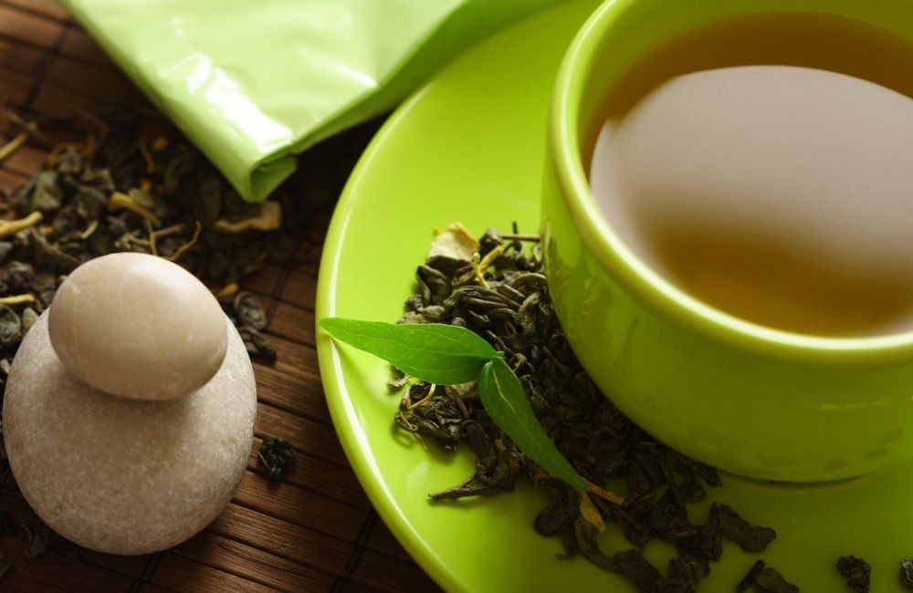 green tea mix with collagen