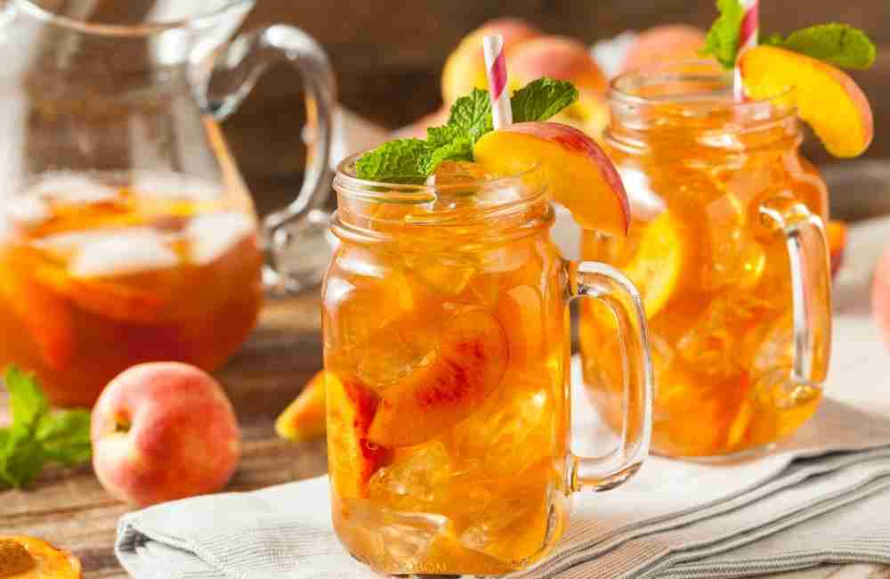Peach boosted tea